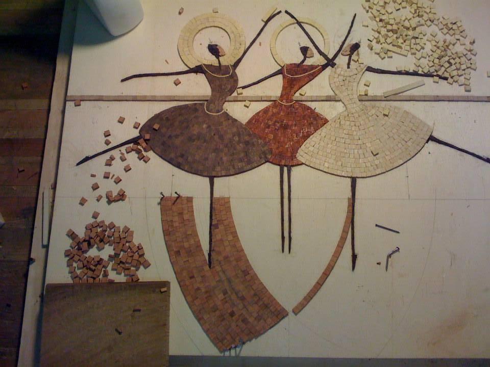 Andrea, intarsiatore innamorato del mosaico in legno - Mosaici Pastore