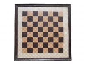 scacchiera mosaico legno