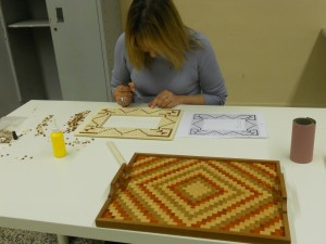 cornice portafoto a mosaico