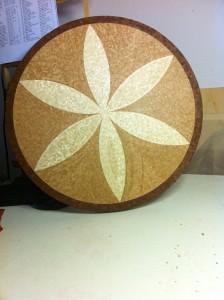rosone mosaico in legno