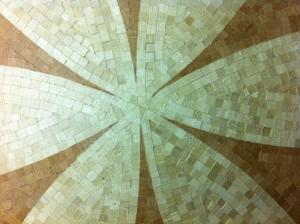 nuova creatività dal mosaico in legno rosone a mosaico