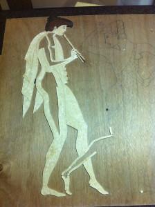 nuova creatività dal mosaico in legno mosaico danza greca